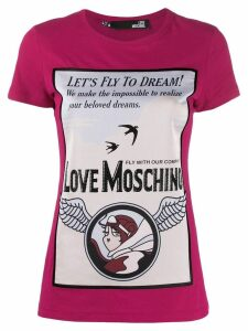 Love Moschino printed T-shirt - PINK