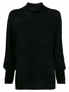 Lemaire roll neck sweatshirt - Black