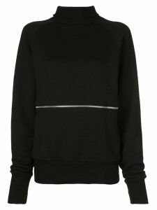 Y's zip-front sweatshirt top - Black