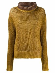 Aragona rollneck cashmere sweater - Yellow