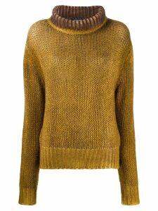 Aragona rollneck cashmere sweater - Yellow