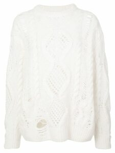 AMIRI Boyfriend multipoint crew neck sweater - White