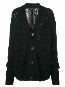 Amiri cable-knit cardigan - Black