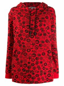 McQ Alexander McQueen graphic print hoodie - Red