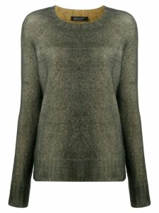 Aragona crew-neck knit sweater - Green