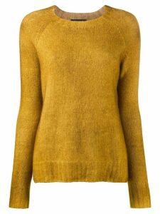 Aragona crew-neck knit sweater - Yellow