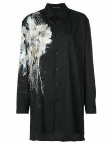 Yohji Yamamoto appliqué long sleeve shirt - Black