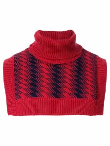 Ernest W. Baker jacquard bib rollneck sweater - Red