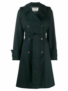 Acne Studios belted trench coat - Green
