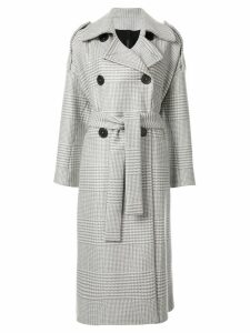 Petar Petrov double breasted trench coat - Grey
