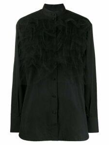 Valentino tulle overlay shirt - Black
