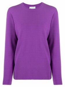 be blumarine box-fit sweatshirt - PURPLE