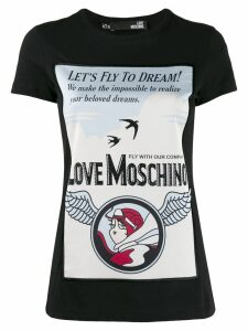 Love Moschino printed T-shirt - Black