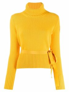 Moncler tie waist jumper - Yellow