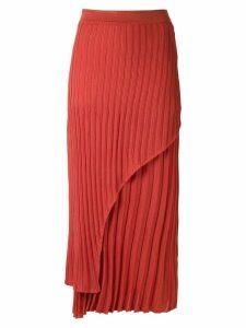 Alcaçuz pleated knit Nubia skirt - ORANGE