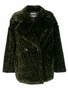 Apparis oversized leopard print coat - Green