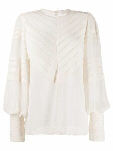 Zimmermann embroidered detail blouse - NEUTRALS