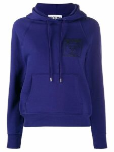 Moschino embroidered Teddy Bear hoodie - PURPLE
