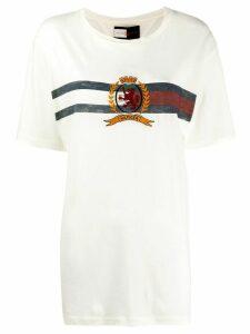 Hilfiger Collection logo stripe T-shirt - White