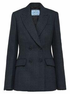 Prada peaked lapel blazer jacket - Black