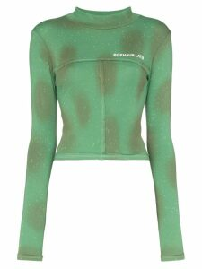 Eckhaus Latta fitted logo jersey top - Green