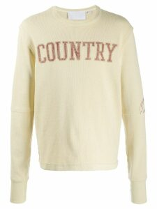 Telfar printed country' sweatshirt - NEUTRALS