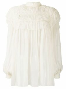 Alberta Ferretti embroidered lace blouse - White