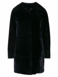 Drome textured button up coat - Blue