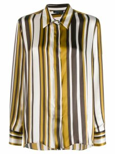Antonelli striped silk shirt - Yellow
