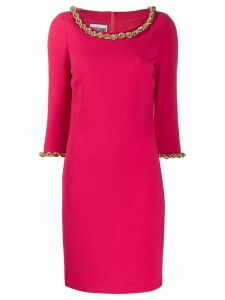 Moschino chain trimmed dress - PINK