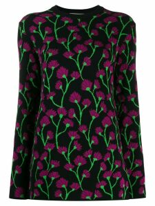 be blumarine floral knitted jumper - Black