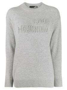 Love Moschino bobble detail jumper - Grey
