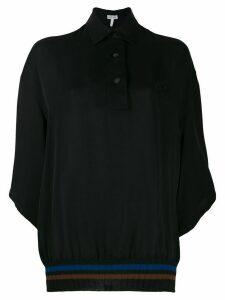 Loewe ribbed hem polo shirt - Black