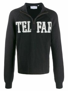 Telfar zip-up logo sweatshirt - Black