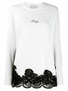 Philosophy Di Lorenzo Serafini lace hem jersey top - White