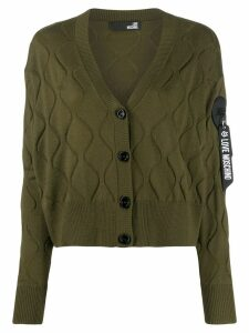 Love Moschino wave-embellished cardigan - Green