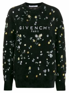 Givenchy floral textured jumper - Black