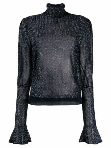 Chloé metallic sheer blouse - Blue