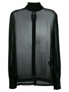 8pm roll neck blouse - Black