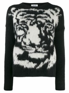 LIU JO Tiger knit jumper - Black
