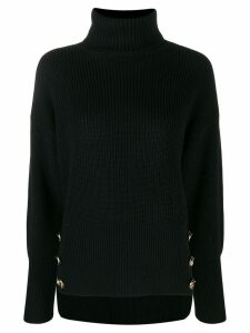 Elisabetta Franchi button detail jumper - Black