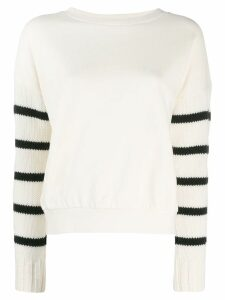 Semicouture knitted sleeve sweatshirt - White