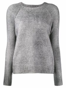 Aragona crew-neck knit sweater - Grey