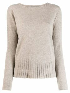 Allude boat neck sweater - NEUTRALS