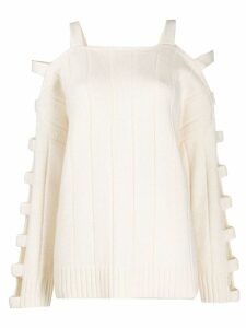 McQ Alexander McQueen cut-out sleeve jumper - White