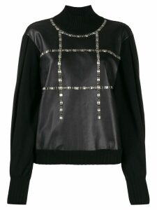 Alberta Ferretti studded roll neck jumper - Black