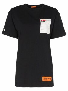 Heron Preston logo patch t-shirt - Black