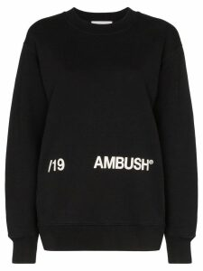 Ambush logo print cotton sweatshirt - Black