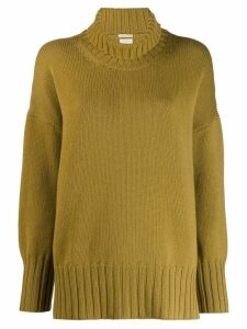 Massimo Alba oversized high-neck jumper - Yellow