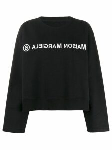 Mm6 Maison Margiela reverse logo sweatshirt - Black